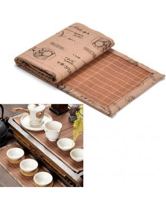 Bamboo Tea Set Tea Plate Coaster Cup Coaster Kung Fu Tea Set Accessories