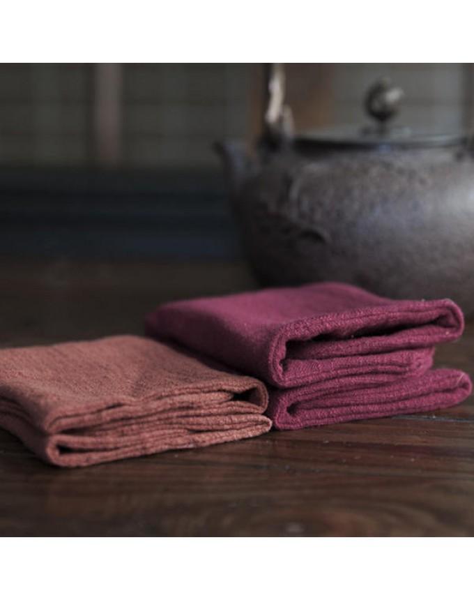 Pure cotton linen Japanese tea towel kung fu tea set accessories