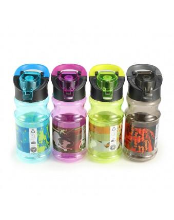 500ml sporty BPA-free BPA flip-top water bottle mug with handle