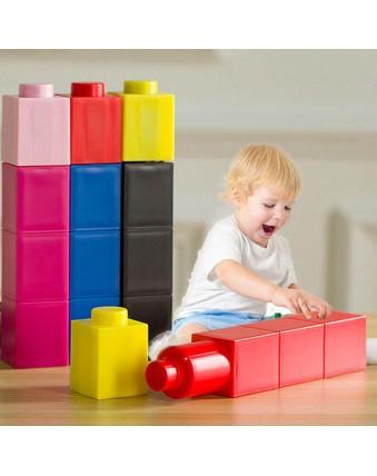 DIY building blocks brick stacking folding cup bottle water bottle children's educational toys
