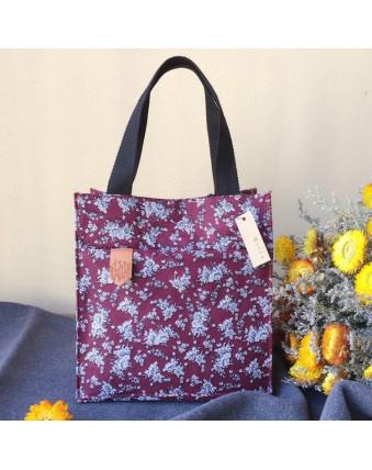 Large Capacity Cotton Lunch Bag Travel Picnic Women's Tote Bag Food Storage Bag