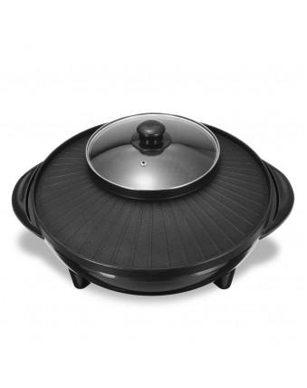 Electric Barbecue Teppanyaki Pan Hotpot Non-stick Smokeless Pan