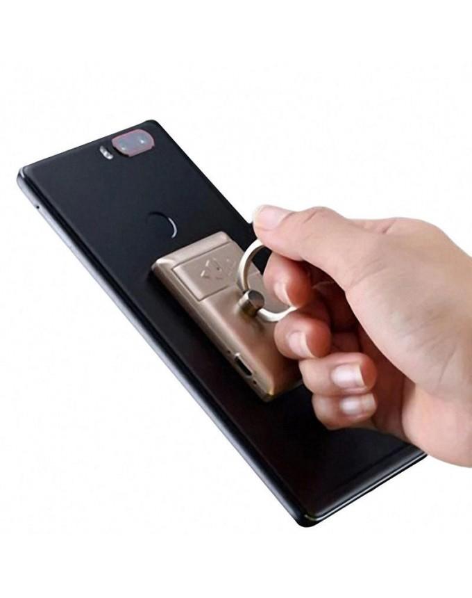 2 in 1 Electric Lighter + Mobile Phone Finger Ring Sticker Holder Mobile Phone Stand BBQ Ignition Starter