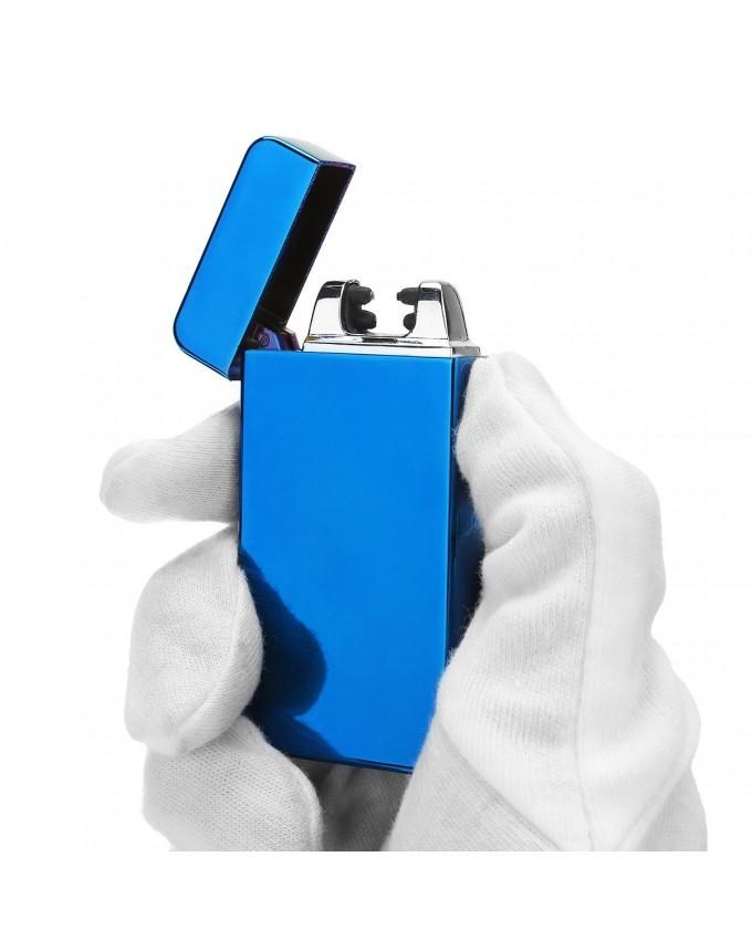 Original heat dual arc electric lighter charging USB plasma pulse windproof lighter