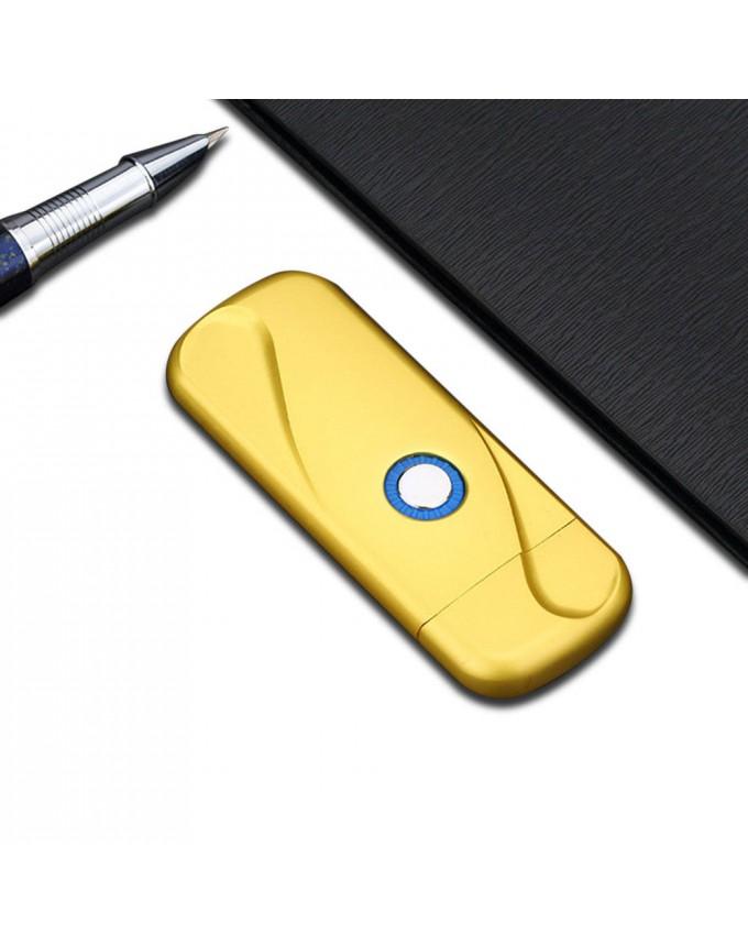 Smart LED Light Fingerprint USB Rechargeable Lighter Tesla Coil Lighter Inductive Metal Windproof Gas Free